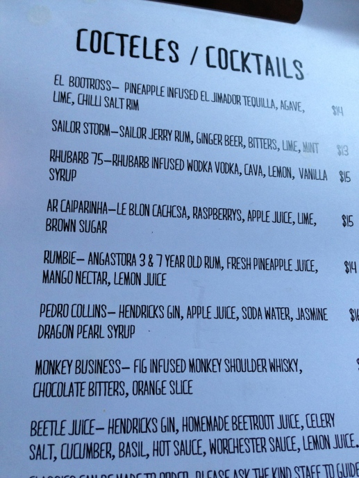 Poquito cocktails