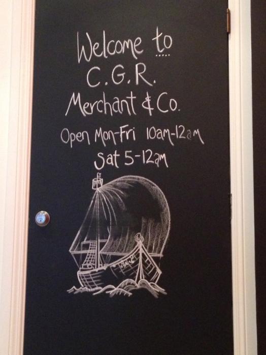 CGR Merchant hours
