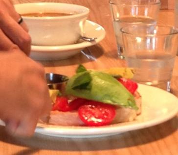 Prefab avocado tomato
