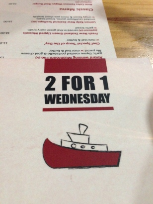 Boat cafe 2 for 1