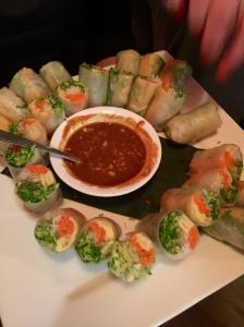 Nam D rice rolls
