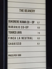Beanery board
