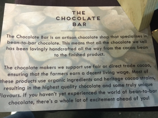 Choc bar blurb
