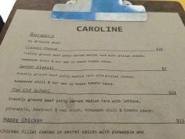 Caroline menu2