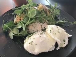 Botanist courg fritters raita eggs