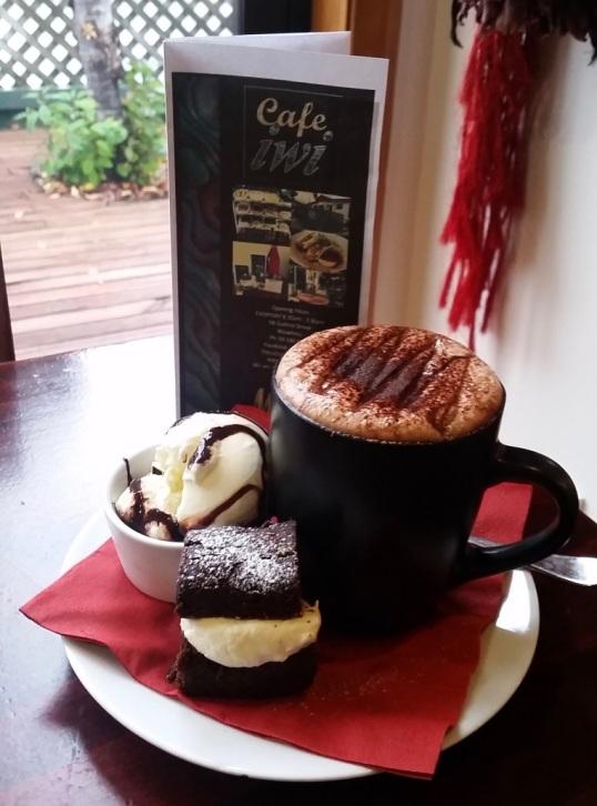 Cafe Iwi choc cake
