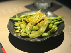 Hot Sauce scorched edamame